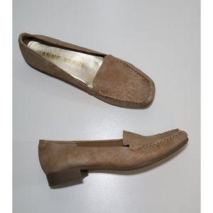 Anne Klein | Cream & Gold Loafers